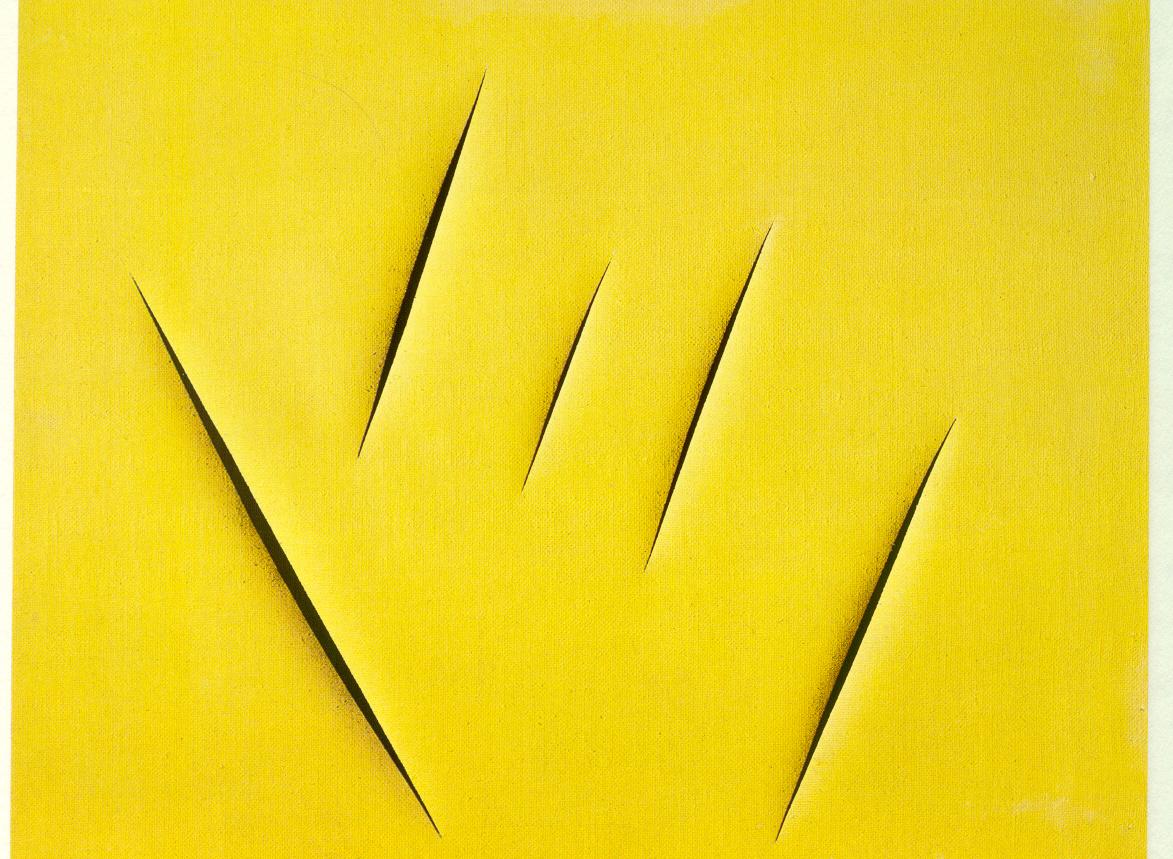 Uno de los concettos spaziales de Lucio Fontana