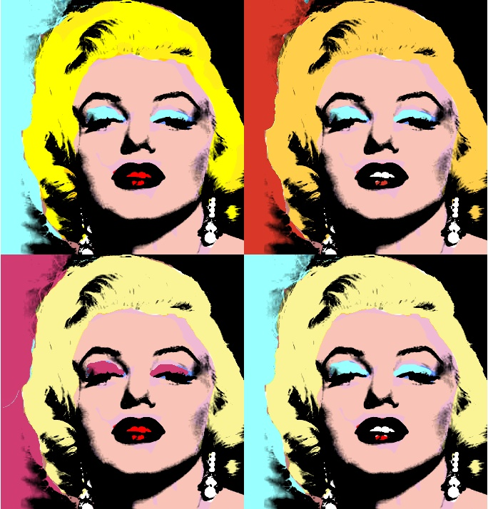 Marylin Monroe retratada bajo la óptica Pop-Art de Andy Warhol