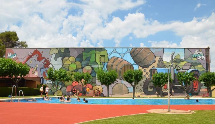 Gat Maó grafiti mural