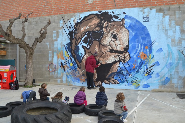 Gat Maó grafiti muro