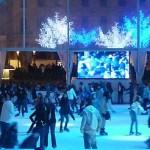 Pista de patinaje que se abre en la Plaza Catalunya de Barcelona cada Navidad
