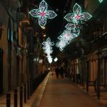 Paseo comercial de Marià Guiló de Barcelona iluminado
