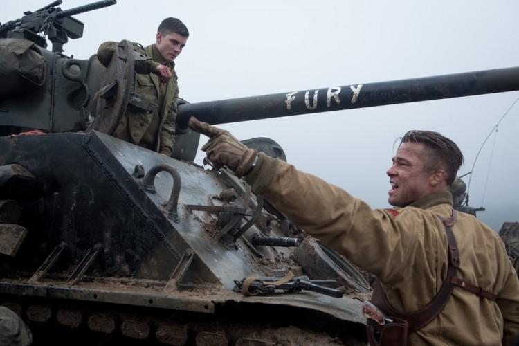 Fury Corazones de acero tanque Brad Pitt crítica