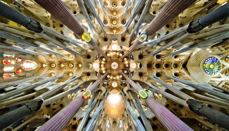 Sagrada Familia Gaudí techo